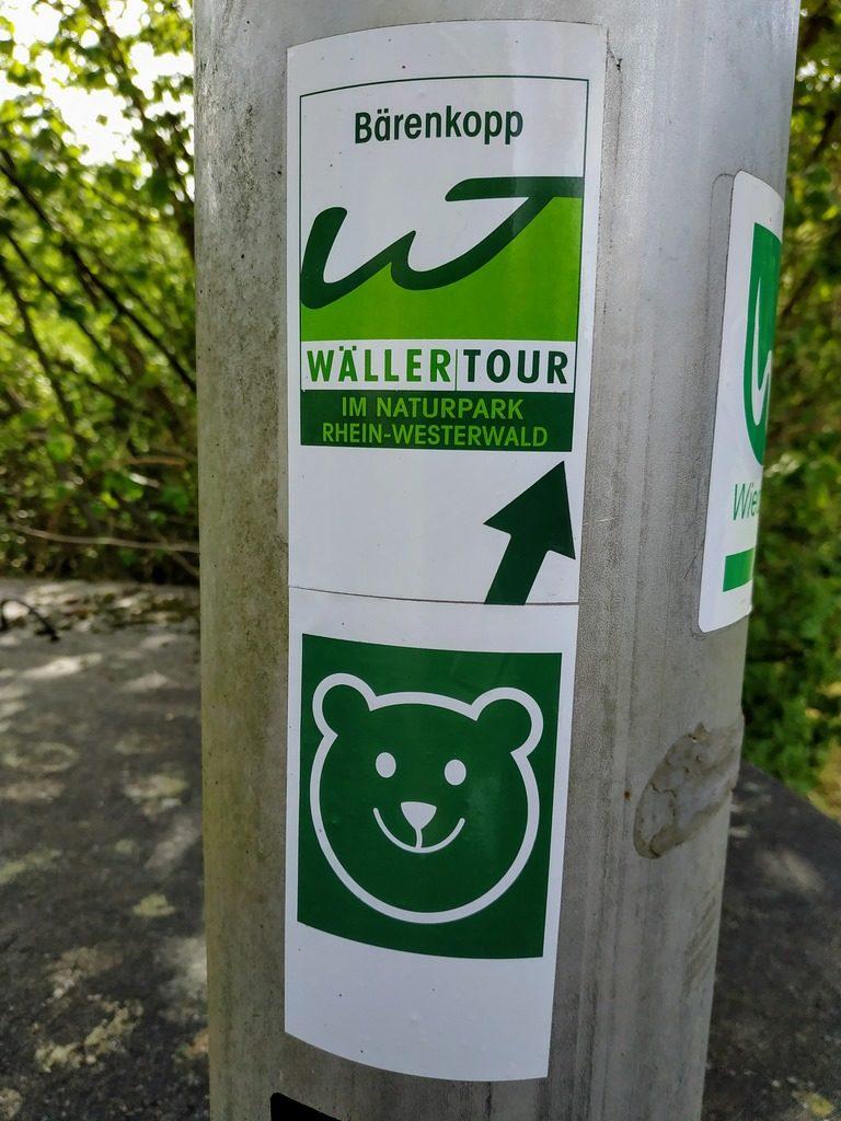 Beschilderung und Wegmarkierung Bärenkopp.